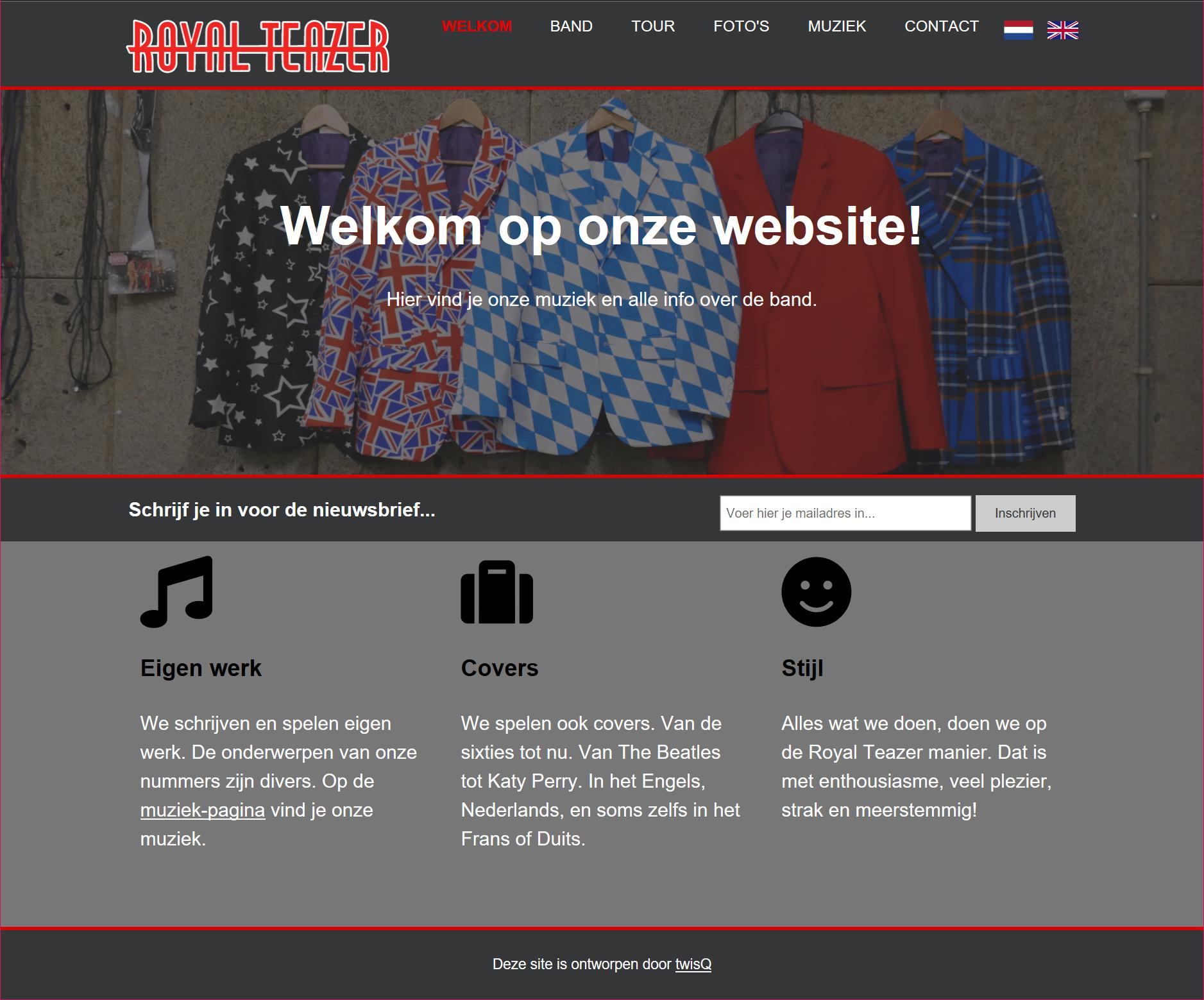 Image of Royal Teazer website